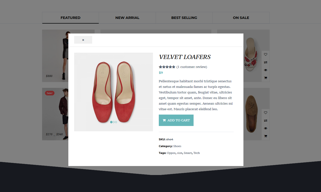 Quick Product View In Lightbox