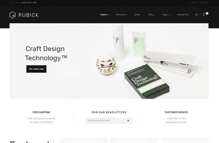 rubick multipurpose wordpress theme