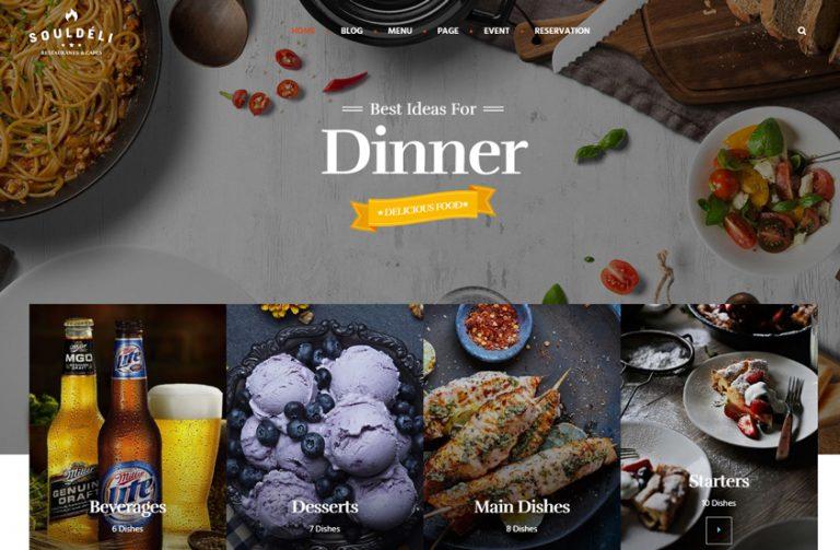 souldeli restaurant wordpress theme