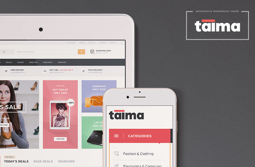 taima electronics wordpress theme