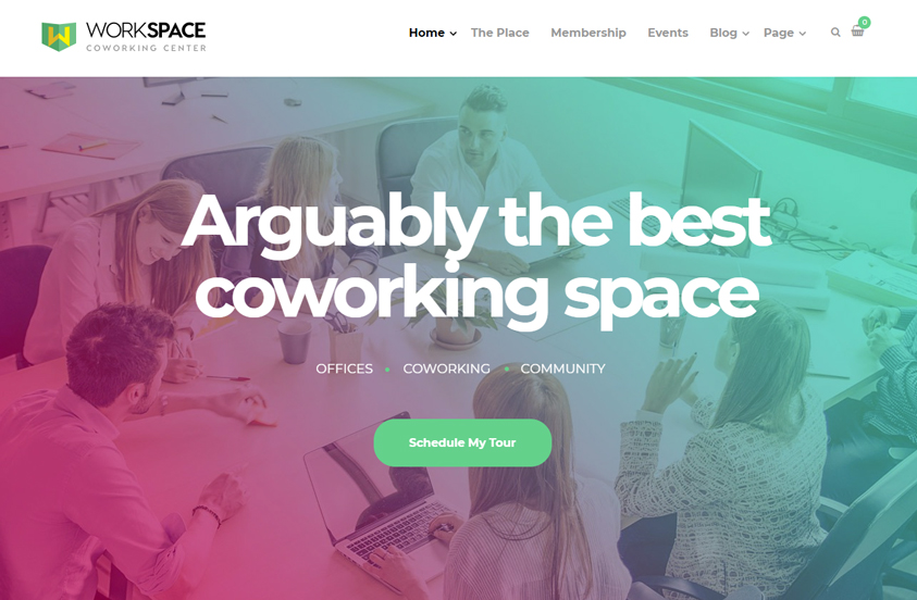 workspace office space wordpress theme