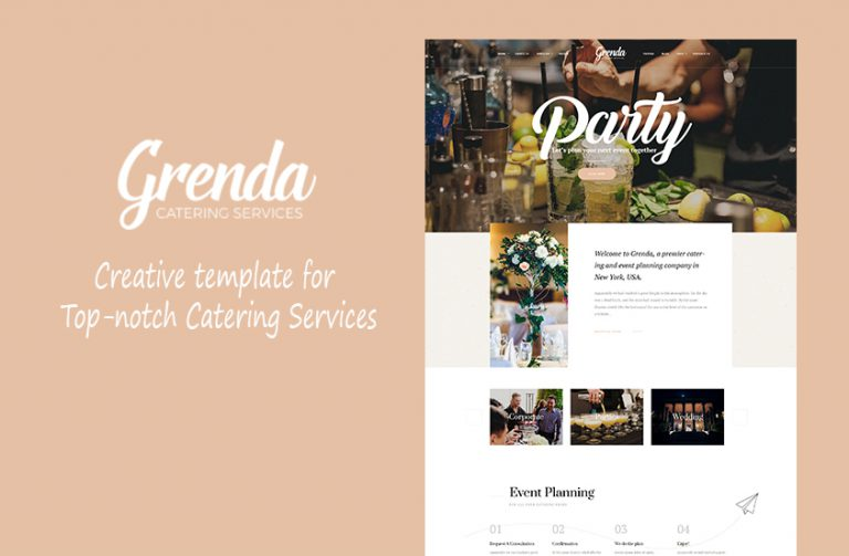 catering wordpress theme