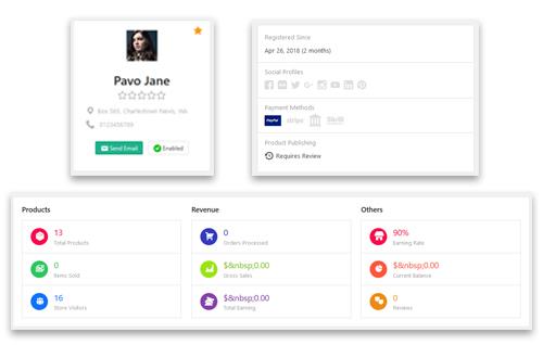 Simple Vendor Profile Management